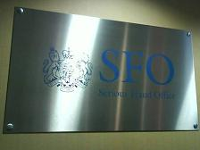 Serious Fraud Office Main Sign Engraved stainless Steel www.e-signs.co.uk