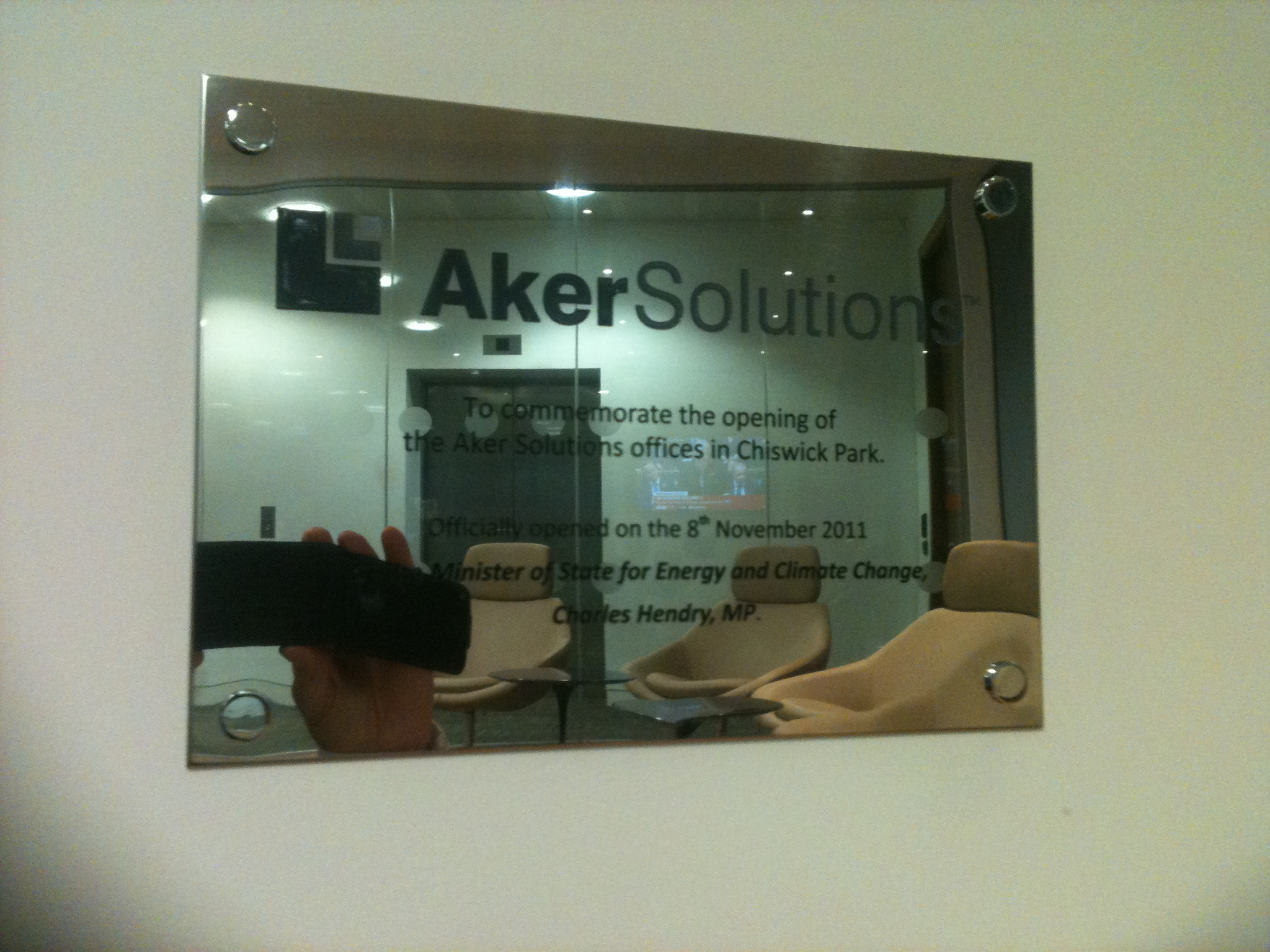 Engraved Plaques www.e-signs.co.uk 0208 1331819 E Signs ® Aker solutions