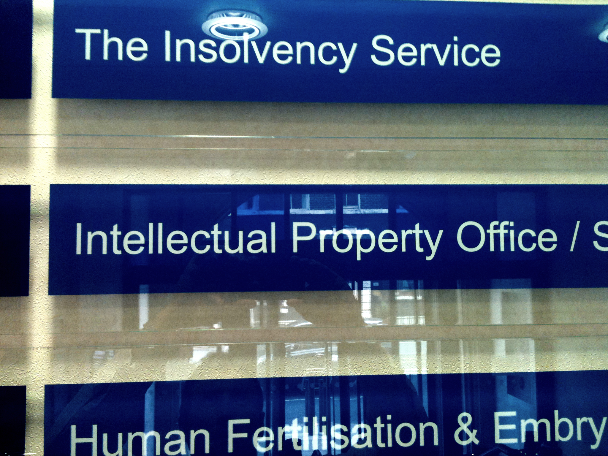 Internal Signs Illuminated Fascia IPO Intellectula Property Office sign by E Signs ® E Signs is the registered trade mark of Lewis Critchley www.e-signs.co.uk