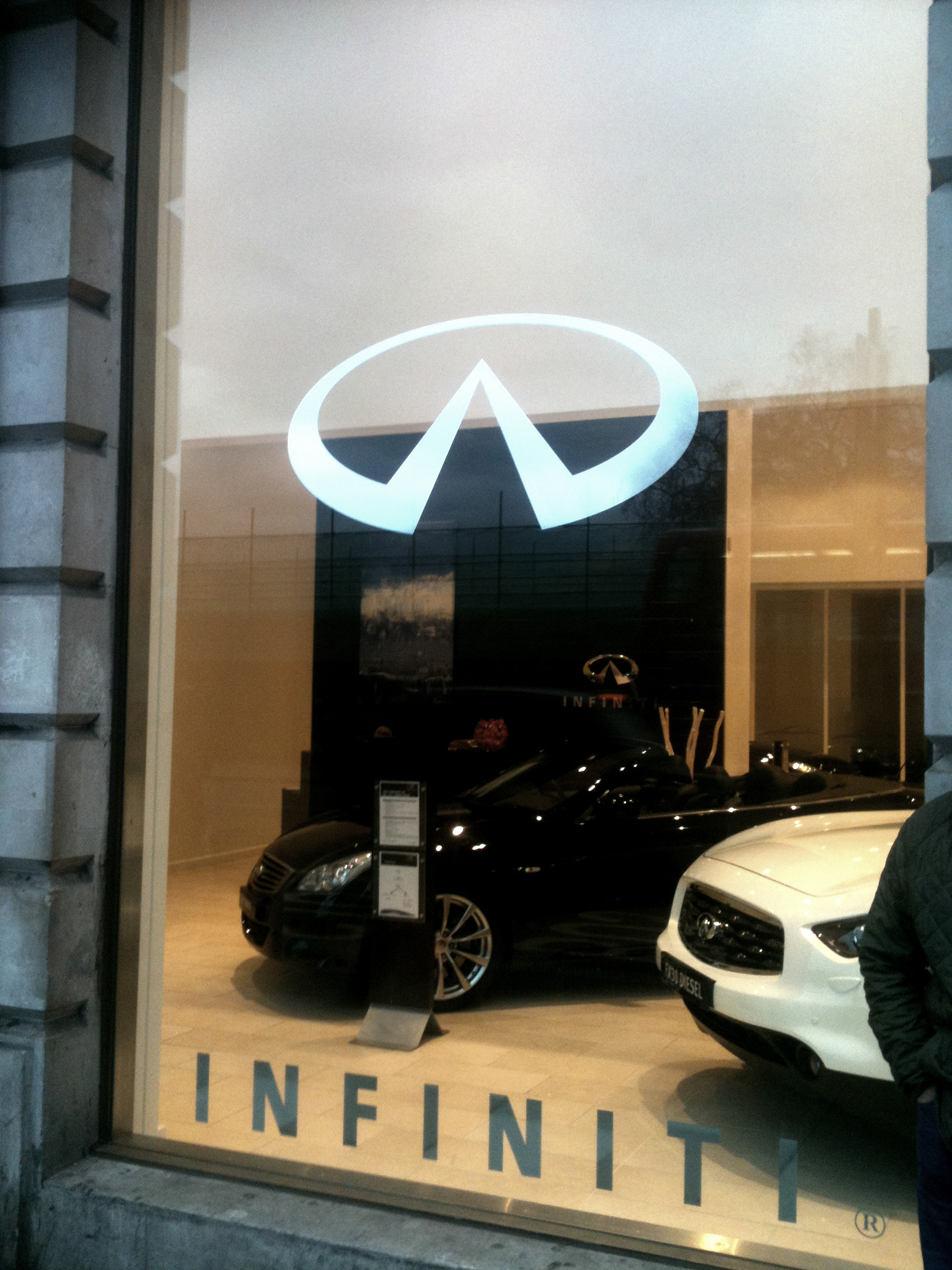 Internal Signs Illuminated Fascia Infiniti signs London installed by E Signs ® www.e-signs.co.uk