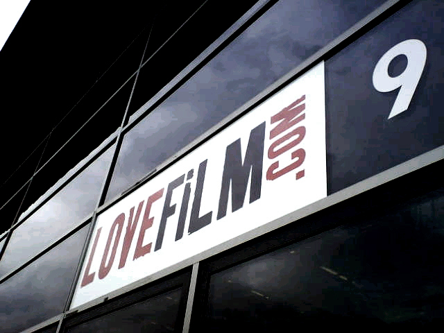 Illuminated Fascia Lovefilm main sign by E Signs ® london www.e-signs.co.uk