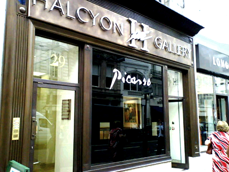Internal Signs Illuminated Fascia picasso signs by E Signs ® for Halcyon Gallery www.e-signs.co.uk